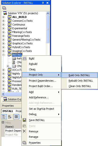 VTK/Building/Windows - KitwarePublic